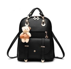 Vogue Star New Designer Women Backpack For Teens Girls-black