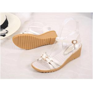 Vtota Rhinestone Sandals for Women -Cream color  size-37