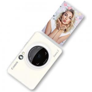 Canon Zoemini S Instant Camera And Photo Printer, Pearl White