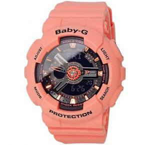Casio BabyG Womens Ana-Digi Dial Resin Band Watch, BA-111-4A2SDR