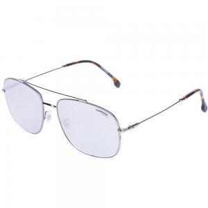 Carrera 182/F/S Gunmetal Pilot Sunglasses for Men Silver, Size 60