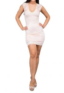TFNC London Sylvia Short Party Dress Nude - ANT 59670 - L