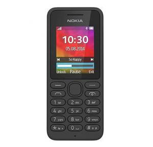 Nokia 130 Mobile Phone, 1.8 Inch Display, Dual SIM - Black