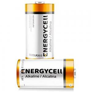 Energycell 1 Amp D Size 1.5V Alkaline Battery, LR20