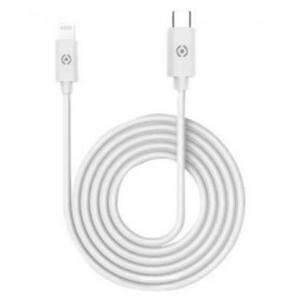 Celly USB C To USB C Magnet Cable, White
