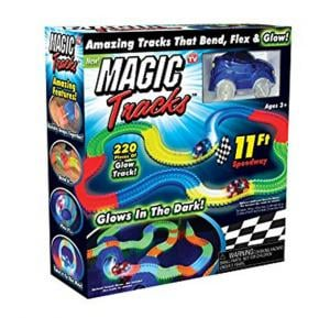 Magic Tracks Bend Flex Racetrack For Kids Amazing Race Track Children Railcar Led Light