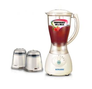 Sonashi 3 In 1 Blender With Unbreakable Jar and Mills, SB-133