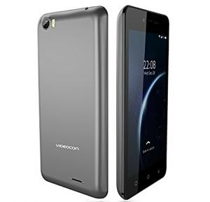 Videocon Krypton 30 Smartphone, Android 7, 5 Inch Display, 3GB RAM, 16GB Storage, Dual Camera, Dual Sim- Grey