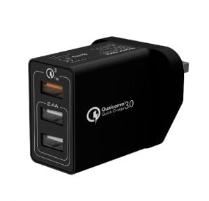 Promate Quick Charge, With Perfect for Traveling , Black