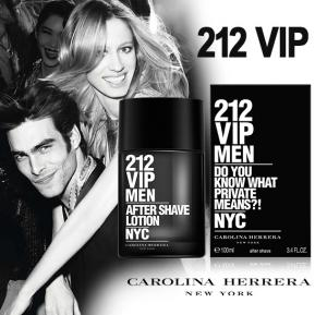 Carolina Herrera 212 Vip Men EDT Plus 212 VIP with Men Aftershave Lotion 100ml