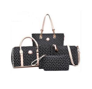 Generic PU Leather Women Handbag 5pcs Set,Black