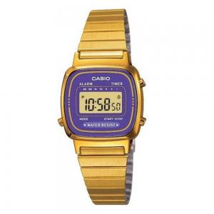 Casio Digital Dial Watch For Women, Gold Plated Stainless Steel-LA670WGA-6df