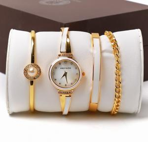 Ande Klevn fashion watch & bracelets set box White Gold