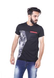 Kenyos Short Sleeve T-Shirt For Men Black - NAABF31647X - M
