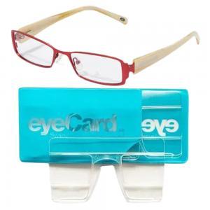 2 In 1 EyeCard Reading Glasses 2.5 Credit Card Size And Jacques Lemans Womens Rectangular Eyeglasses Frame, JLF 1-5087 B