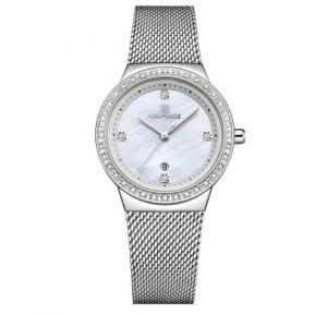 Naviforce Stainless Steel Waterproof Watch For Women, NF5005, Silver White