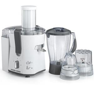 Black & Decker 500W Juicer Blender with Grinder & Mincer, JBGM600-B5