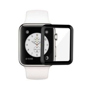 Green 3D Full Glass Screen Protector 42mm For Apple Watch 3/4/5, Black