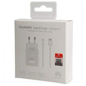 Huawei Super Fast Charger HW-050450E00-5v-2A / 4.5V-5A / 5V-4.5A Wall Charger with Type C Cable 5A in Packing, White