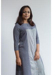 Ruky Fareen Women Long Top Flair Kurti Full Sleeve - RF 209 - XL