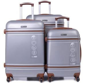 Parajohn Hard Trolley Luggage Set Gray, PJTR3042C