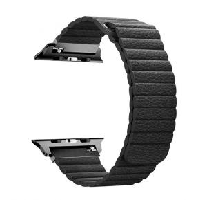 Promate Lavish-38 Leather Smart Watch Band, Black