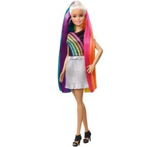 Barbie Rainbow Sparkle Hair Doll Fxn96