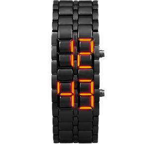 Lava LED Electronic Male Lovers Watches Volcanic Eruptions - Black