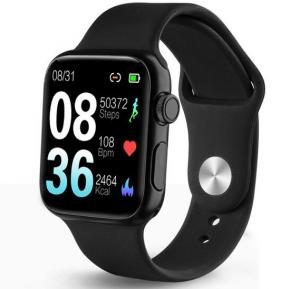 P20 Smart watch IP68 Waterproof Swimming Bracelet Touch Heart Rate Blood Pressure Smartwatch For Android Ios -Black
