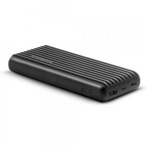 Promate BOLT-20 Black 20000mAh Dual USB Li-po Powerbank With USB C and Micro USB Input