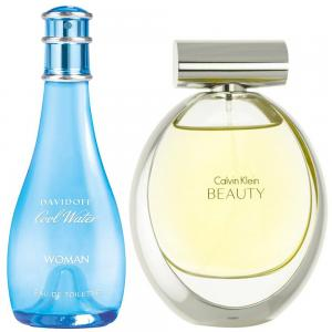 2 in 1 Perfume Pack for Ladies, Calvin Klein Beauty Perfume 100 ML and Davidoff Coolwater Women 100 ML