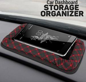 Car Leather Dashboard Storage Organizer, ATS300B, Black, C79