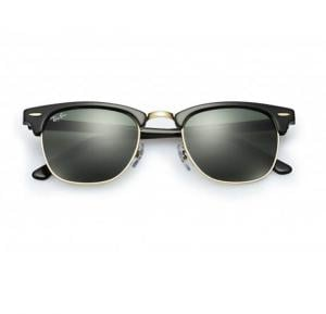 Ray-Ban Oval Black Frame & Green Classic Mirrored Sunglasses For Unisex - RB3016-W03-65-49