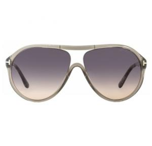 Tomford Aviator Transparent Gray Frame & Beige/Gray Gradient Mirrored Sunglasses For Woman - TF443-20B
