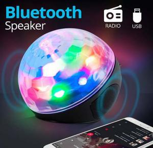 RGB Multi-Color Ball DJ  Light Portable Wireless Bluetooth Speaker With Micro SD, USB Port, Aux & FM Radio Support, WS-635BT