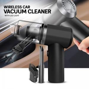 2 in 1 Wireless Car Vacuum Cleaner with LED Light, Portable Mini Wet/Dry Vacuum for Car Interior and Home Cleaning