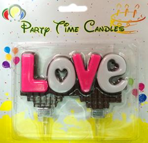 Party Time Love choc Candle G363