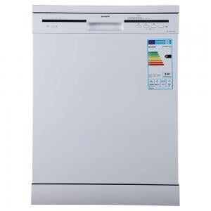 Sharp 6 Programs 12 Place settings Free standing Dishwasher, White, QW-MB612-WH3