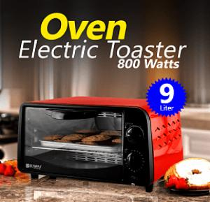 Olympia 9 Liters Electric Toaster Oven 800 Watts, OE-1009, Red