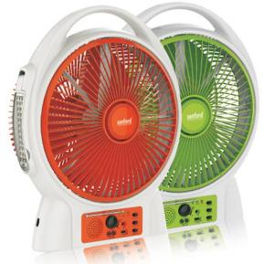 Sanford Rechargeable Fan With Light SF969RTFBS
