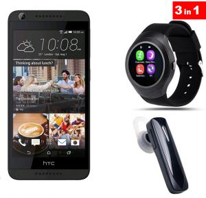 3 in 1 Bundle Offer HTC Desire 626 Smartphone 4G 16 GB Black With Zooni Y1 Bluetooth Smart Watch and Mono Headset