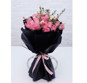 Black Tulip Flowers Bunch Of 20 Stems Pink Flowers, Bt_Fl_0s90