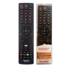HUAYU RM-L1316 Univetsal Remote Control Use for LED/LCD/HD/ Smart Plasma TV Nexflix YouTube Remote Control