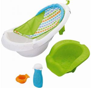 4-in-1 Grow With Me Baby Tub Shower Sure Comfort Newborn to Toddler Bath Tub
