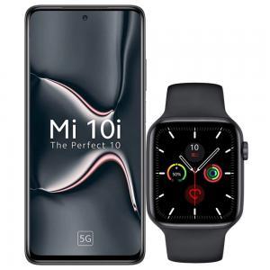 2 In 1 Xiaomi Mi 10i Dual SIM Midnight Black 6GB RAM 128GB Storage 5G And W26  IPS Color Screen Smart Watch 44mm Black