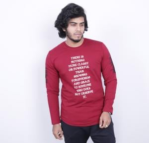 Saw Mens Full Sleeve Tshirt Red - 1013 - M