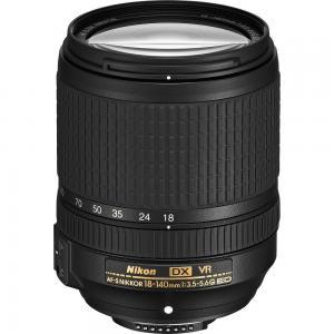 Nikon Nikkor AF-S DX 18-140mm f/3.5-5.6G ED VR Interchangable Lenses Black