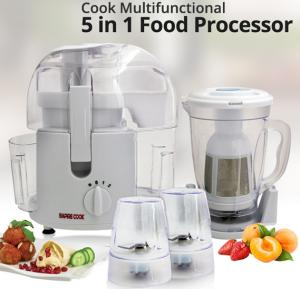 Multifunctional 5 in 1 Food Processor, 300 Watts MS-4017