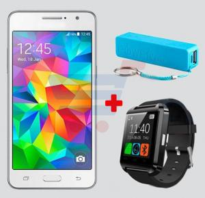 Bundle Offer Kagoo G532 Smartphone, Android, 5.0 Inch HD Super AMOLED Display, 1GB RAM, 8GB Storage White & Get OEM Bluetooth Smart Watch + Power Bank FREE