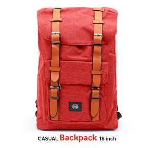 Okko Casual Backpack 18 Inch, Red,OK33802